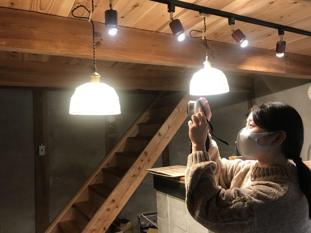 竹紙ランプシェード作り体験